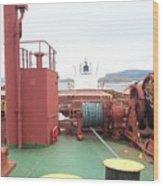 Merchant Vessel Deck Wood Print