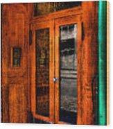 Merchants Cafe Doors Wood Print