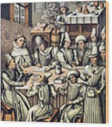 Merchants Paying Taxes Wood Print