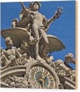Mercury Clock At Grand Central Terminal Wood Print