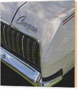 Mercury Cougar Xr7 Emblem Wood Print