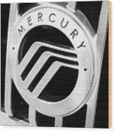 Mercury In Black And White Wood Print