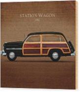 Mercury Station Wagon 1950 Wood Print by Mark Rogan