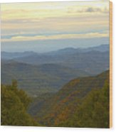 Mercy Me- A Fall View Of Craggy Gardens Nc Wood Print