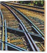 Merging Tracks Wood Print