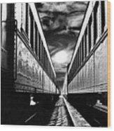 Merging Trains Wood Print