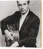 Merle Haggard, Music Legend By John Springfield Wood Print