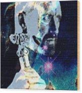Merlin In The Cosmos Wood Print