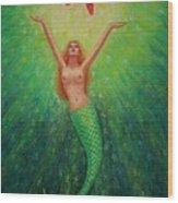 Mermaid Art- Mermaid's Starlight Wood Print