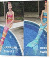 Mermaid Costume For Kids In Canada Wood Print