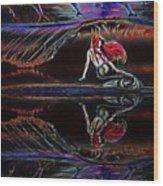 Mermaid Daydream  Wood Print