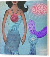 Mermaid Dream 1 Wood Print