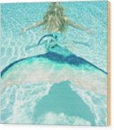 Mermaid Escape 2 Wood Print