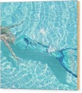Mermaid Glide Wood Print