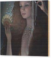 Mermaid Wood Print by Jane Whiting Chrzanoska