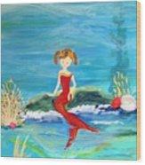 Mermaid Jenna Wood Print