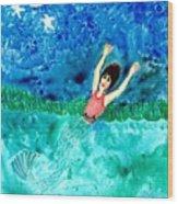 Mermaid Metamorphosis Wood Print