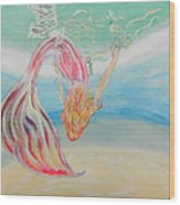 Mermaid Summer Salt Wood Print