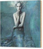 Mermaid Water Spirit Wood Print