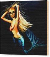 Mermaid Witch Wood Print