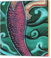 Mermaid With Pearl Wood Print