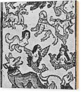 Mermaids, 1475 Wood Print