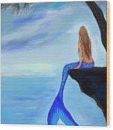 Mermaids Lovely Oasis Wood Print