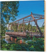 Merriam Street Bridge Wood Print