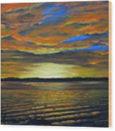 Merritt Island Sunset Wood Print