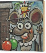 Merry Chrismouse Wood Print