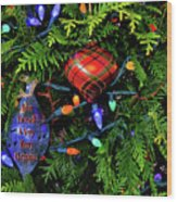 Merry Christmas 008 Wood Print