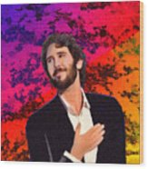 Merry Christmas Josh Groban Wood Print