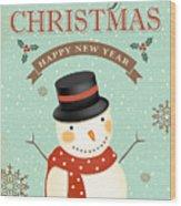 Merry Christmas-jp2766 Wood Print