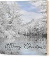 Merry Christmas - Lykens Reservoir Wood Print