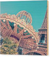 Merry Go Paris Wood Print
