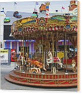 Merry-go-round At The Prater Wood Print