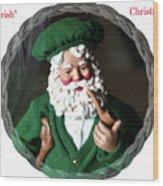 Merry Irish Santa Wood Print