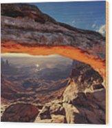 Mesa Arch At Sunrise Wood Print