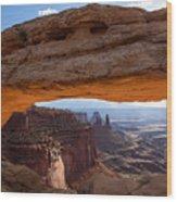 Mesa Arch Morning Glow Wood Print