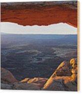 Mesa Arch Panorama Wood Print