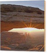 Mesa Arch Panorama Wood Print by Andrew Soundarajan