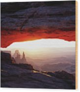 Mesa Arch Sunrise 4 Wood Print