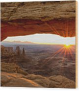 Mesa Arch Sunrise - Canyonlands National Park - Moab Utah Wood Print by Brian Harig