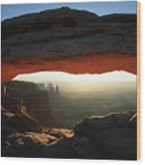 Mesa Arch Sunrise Wood Print