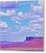 Mesa At Vermilion Cliffs Wood Print