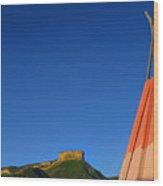 Mesa Teepee Wood Print