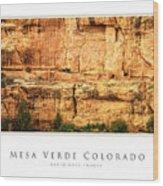 Mesa Verde Colorado Gallery Series Collection Wood Print