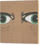 Mesmerized Eyes Wood Print