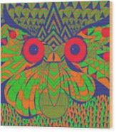 Mesmerizing Owl Wood Print