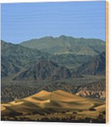 Mesquite Flat Sand Dunes - Death Valley National Park Ca Usa Wood Print
